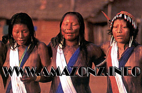 Xingu Native Tribe Women