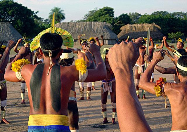 Xingun Indigenous Amazonian Ritual Xingu Indians